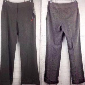 Rafaella Pants 4 Charcoal Career Flat Front Cuffed